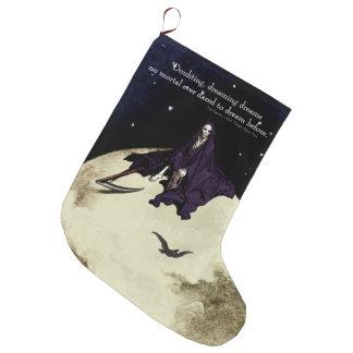 Mortality and the Moon Large Christmas Stocking