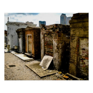 Mortality, St. Louis Cemetery No. 1 Poster