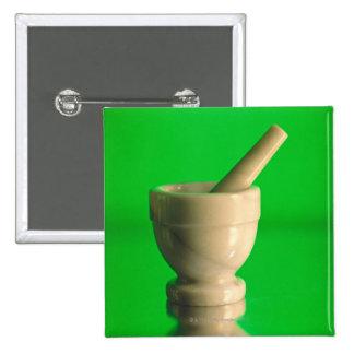 Mortar and pestle 2 inch square button