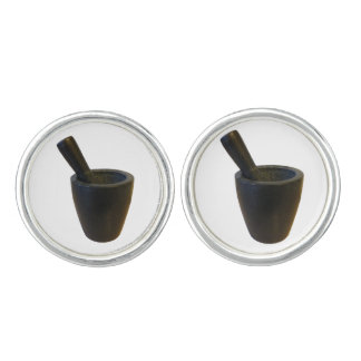 mortar and pestle cuff links