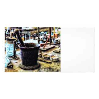 Mortar and Pestle in Chem Lab Picture Card