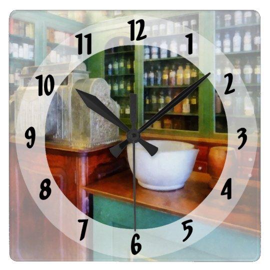 Mortar and Pestle in Pharmacy Clocks