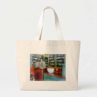 Mortar and Pestle in Pharmacy Large Tote Bag