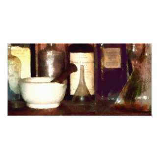 Mortar and Pestle With Flasks Photo Cards