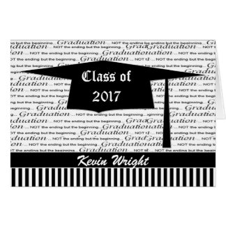 Mortar cap graduation announcement  Card