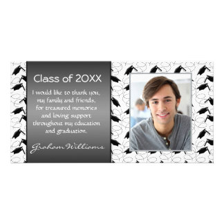 Mortar graduation thank you personalized photo card