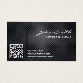Mortgage Agent Metal QR Code Business Card