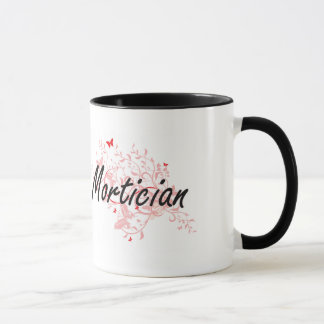Mortician Artistic Job Design with Butterflies Mug