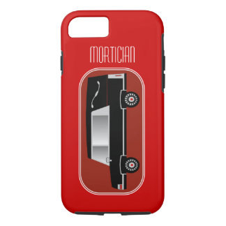 Mortician iPhone 7 case Hearse Design Red