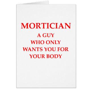 mortician joke card
