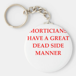 MORTICIANS BASIC ROUND BUTTON KEYCHAIN
