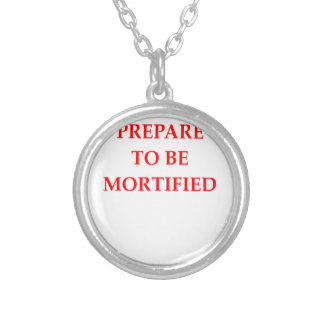 MORTIFIED SILVER PLATED NECKLACE