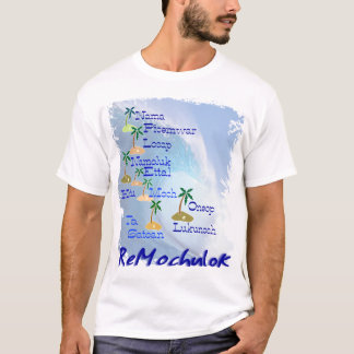 Mortlock Islands Map T-Shirt