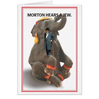Morton Hears Jew Birthday Card