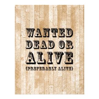 Morts ou vivant voulus prospectus 21,6 cm x 24,94 cm