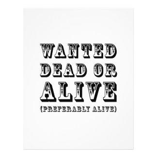 Morts ou vivant voulus prospectus en couleur