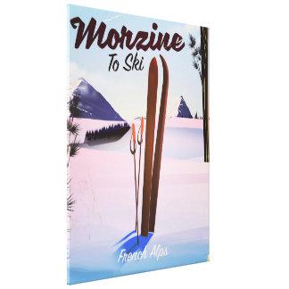 Morzine ,French Alps ski poster Canvas Print