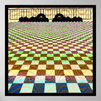 Mos Eisley Sunset Op Art Poster