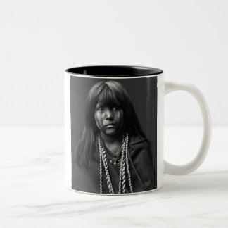 Mosa - A Mohave Woman Two-Tone Coffee Mug