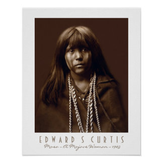 Mosa - A Native American Mojave Woman - 1903 Poster