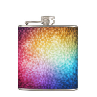 Mosaic 3 Wrapped Flask