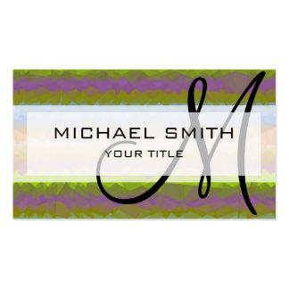 Mosaic Abstract Art Custom Monogram #40 Business Card