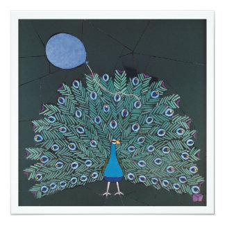 Mosaic art of peacock and balloon card
