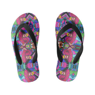 Mosaic Art pattern child's flip flop