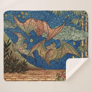 Mosaic Bats Sherpa Blanket