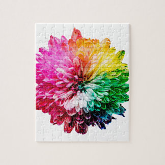 Mosaic Beautiful Multicoloured Flower Jigsaw Puzzle