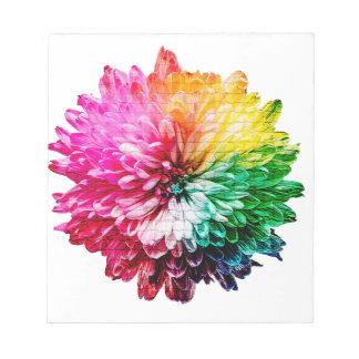 Mosaic Beautiful Multicoloured Flower Notepad