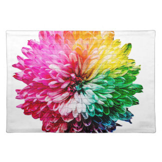 Mosaic Beautiful Multicoloured Flower Placemat
