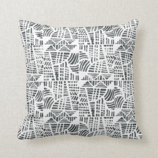 Mosaic black throw pillow