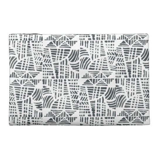 Mosaic black travel accessory bag