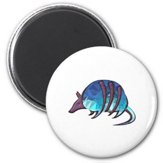 Mosaic Blue Armadillo with Purple Metallic Scales Magnet