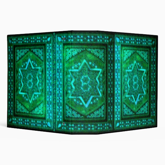 Mosaic Box Green 3 Ring Binder