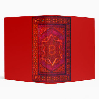 Mosaic Box in Red 3 Ring Binders