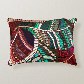 Mosaic Brushed Polyester Accent Pillow 16x12