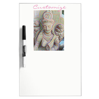 Mosaic  buddha statue Thunder_Cove Dry Erase Board