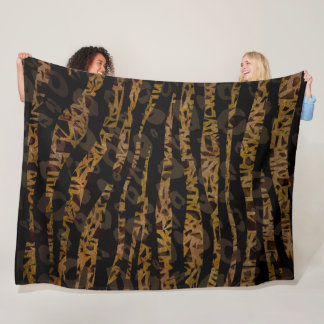 Mosaic Chic Elegant Safari Glam Jungle Fleece Blanket