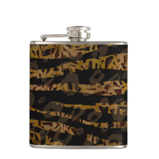 Mosaic Chic Elegant Safari Glam Jungle Print Hip Flask