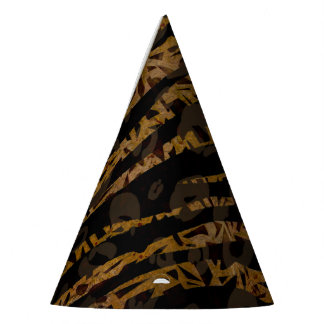 Mosaic Chic Elegant Safari Glam Jungle Print Party Hat