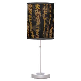 Mosaic Chic Elegant Safari Glam Jungle Print Table Lamp