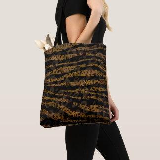 Mosaic Chic Elegant Safari Glam Jungle Print Tote Bag