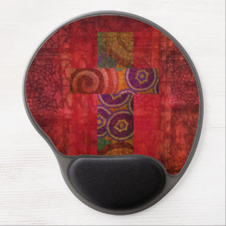 Mosaic Christian Cross Red Abstract Background art Gel Mousepads