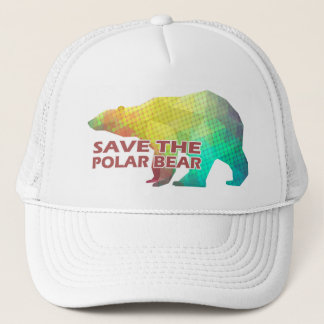 MOSAIC COLOR POLAR BEAR(SAVE THE POLAR BEAR) TRUCKER HAT