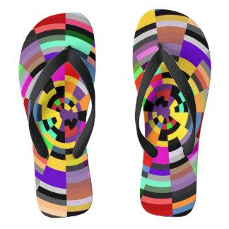 MOSAIC colorful target + your ideas Flip Flops