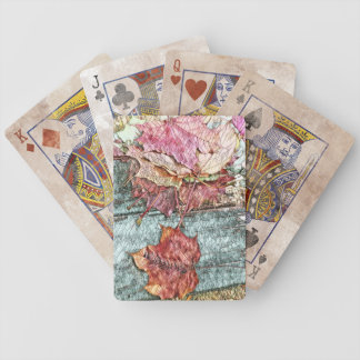 Mosaic Colourful Maple Leaves of Michigan Bicycle Playing Cards