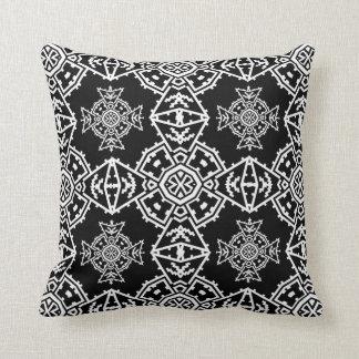 Mosaic Cross Wallpaper Throw Pillow