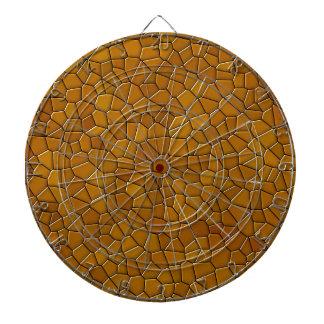 mosaic dartboard with darts